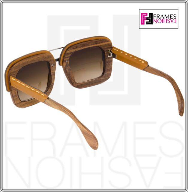 c35ecb265428 ... denmark prada raw spr 26r wood square brown leather sunglasses pr 26rs  ua7 6s1 ebay 538a5