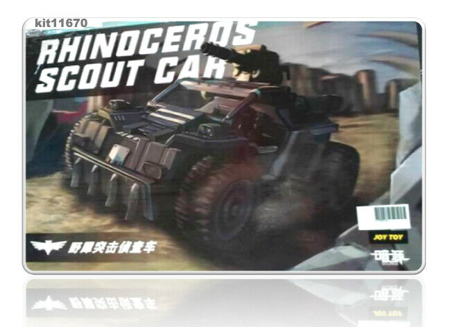 JOY TOY Rhinoceros Scout Military Model Car The 3rd Generation Toy 1 25 Figure