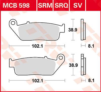 Plaquettes de frein Avant TRW Lucas MCB598 Honda VT 1100 C Shadow SC23 94-98