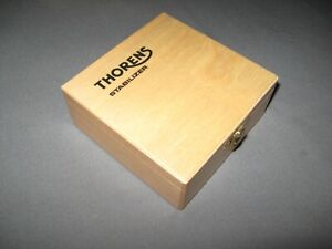 Thorens-Turntable-Stabilizer-Storage-Wooden-Hinged-Box-w-Logo-for-TD160-TD124