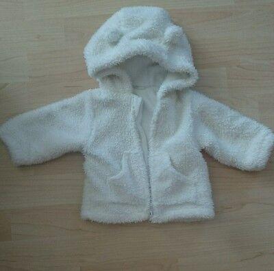 Gebrauchte Baby Mädchen Jacke mit Teddy Ohren,gebraucht,weiß,Gr.62   eBay