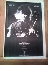 JIMMY PAGE (Led Zeppelin) Outrider 1988 UK Poster size Press ADVERT 16x12 inches