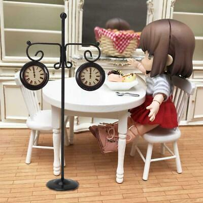 Mini Metal Outdoor Wall Clock Accessories for 1:12 Dollhouse Miniature Furniture