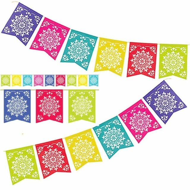 amscan mexican fiesta del sol coloured paper sun party flag banner