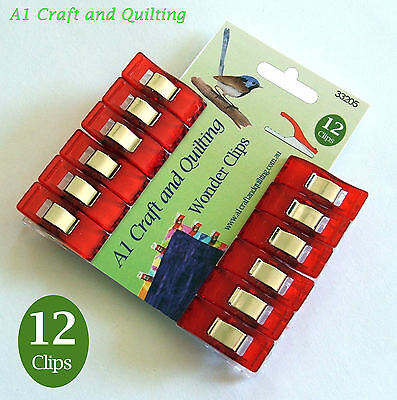 Wonder Clips - Pack of 12 - 33205 - Quilting, Binding, piping, craft, knitting