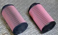 2 X Yamaha Banshee K&n Style Air Filters 26mm Stock Size Carbs 28 30mm