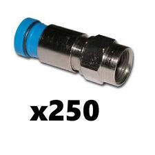 Belden SNS1P6 RG6 Coax Cable Compression F Connectors Blue 250 Pack Snap-N-Seal