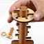 Wooden-Toy-Unlock-Puzzle-Key-Classical-Lock-Toys-For-Intellectual-Educational-bw thumbnail 1