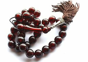 NEW WORRY PRAYER BEADS TESBIH (IMITATION FATURAN,BAKELITE CATALIN) 33 + 1 62gr