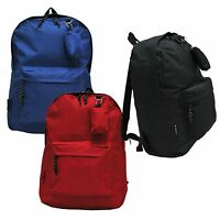 e-z Roll Brand Lightweight Backpack/school Book Bag In Black/blue/red Colors