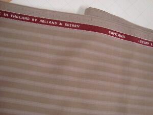 4-yd-HOLLAND-SHERRY-WOOL-Cashmere-FABRIC-Capitana-8-oz-SUITING-Tan-144-034-BTP