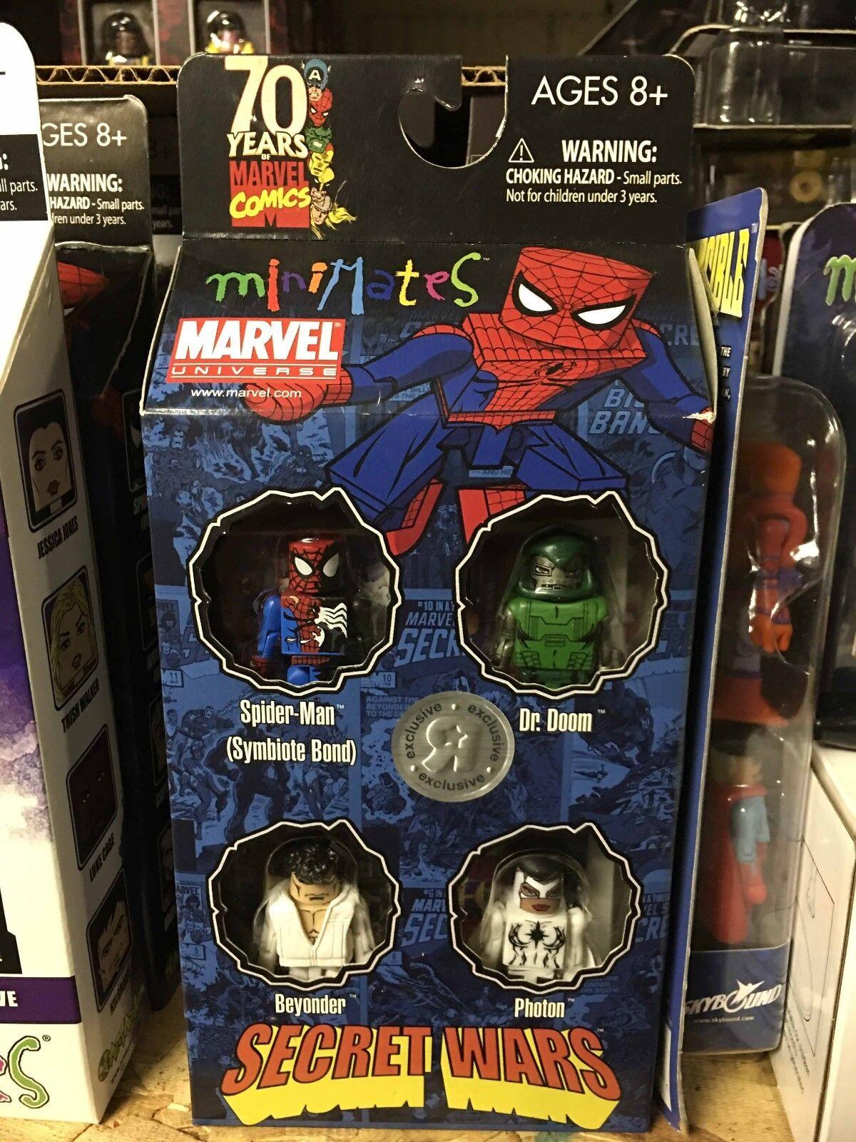 Marvel Minimates SECRET WARS Box Set TRU Exclusive PHOTON BEYOND DOOM SPIDER-MAN