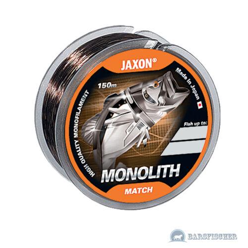 MONOFILE SCHNUR 150m ANGELSCHNUR JAXON MONOLITH MATCH MATCH FISHING LINE NEU
