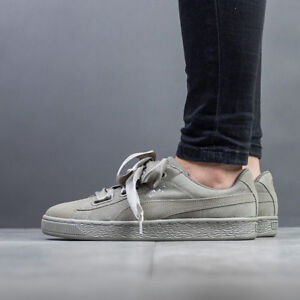 more photos c2990 af922 Details about WOMEN'S SHOES SNEAKERS PUMA SUEDE HEART PEBBLE [365210 02]