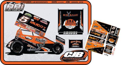 CD/_SC/_101 #5 David Gravel Go Muddy 2018 Sprint Car   1:24 Scale DECALS