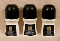 3 Avon Chic In Black Roll On Antiperspirant Deodorant Lot Discontinued