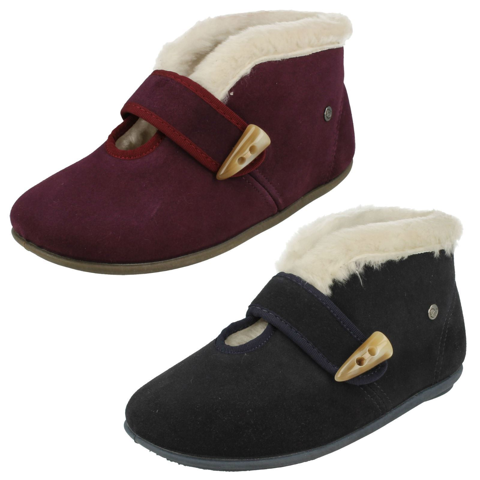 Ladies Freestep Leather Slipper Boots Willow