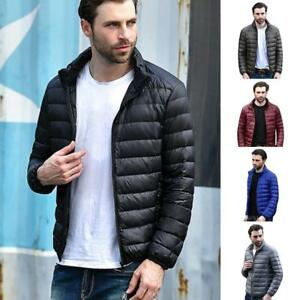 Herren-laessige-warme-Jacken-Ultraleichtjacke-Herbst-amp-Winter-Slim-Coat