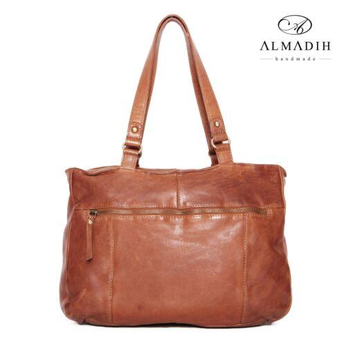 Umhängetasche Handtasche Schultertasche manntasche Almadih Braun Leder M33 tqCwCEHW