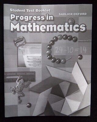 Student Test Booklet For Progress In Mathematics Grade 2 Sadlier Oxford NEW EBay