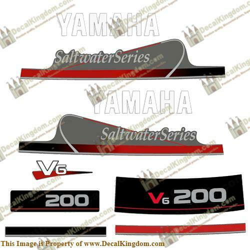 Yamaha 200hp V6 Saltwater Series Decals