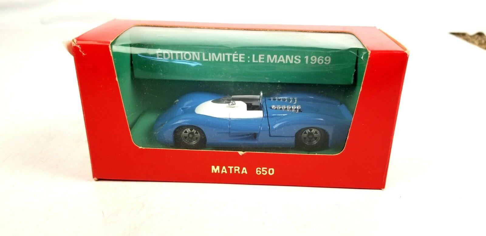 Verem Verem Verem Matra 650 Le Mans bluee 1 43 O Scale Diecast Model Car Replica 99a305