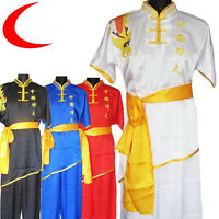 Hot Sale Chinese Silk Martial Arts Uniform Kung Fu Suits Performance Clothing