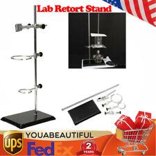 Lab Retort Stands Clamp Bracket 50cm2 Rings Platform Chemistry Bottle Tube Tool