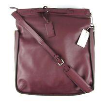 $4K NWT Mens BRIONI Oxblood Leather Duffle Shoulder Bag Tote Weekender