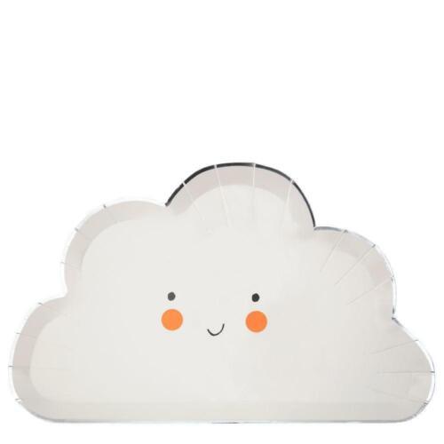 8 Meri Meri Partyteller Wolken Form Pappteller Taufe Babyparty Kindergeburtstag