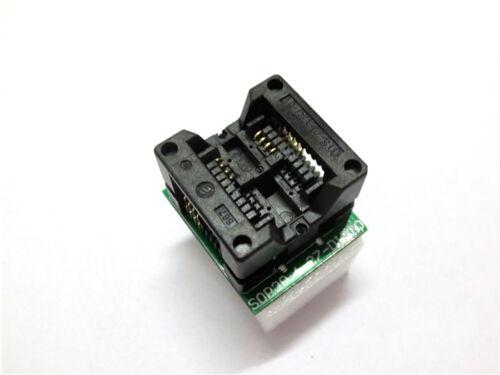 SOIC SOP8 to DIP8 EZ Programmer Adapter Socket Wide 200mil 208mil Module