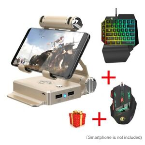 Android//iOS Phone Controller Gaming Keypad for All Game Mobile Game Keyboard Converter Mouse Stand Adapter X1 BattleDock For FPS Games//Battle Games etc