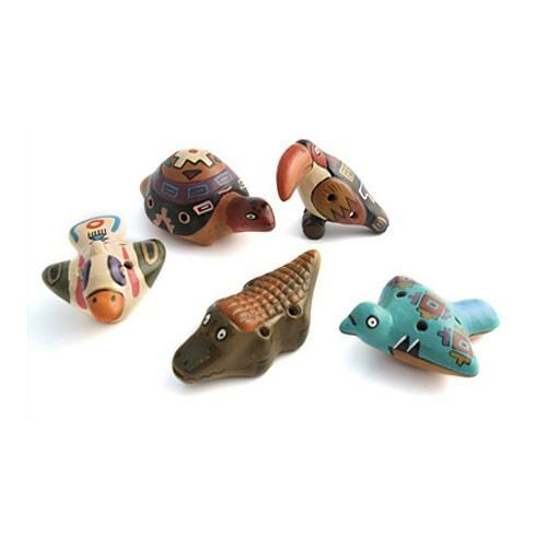 Animal Ocarina Assorted Choice/'s Flute Woodwind Instrument Made In Peru UK Gift