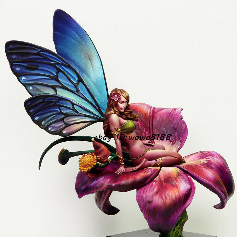 Resin Unpainted Figure Model 1 18 Scale 90mm Fantasy Fairy Garage Kit Statue HOT