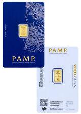 PAMP Suisse 1 Gram .9999 Gold Bar Fortuna Sealed in Assay Card