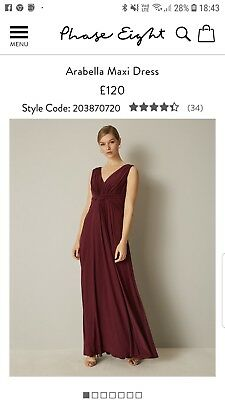 Phase Eight bridesmaid dress berry size