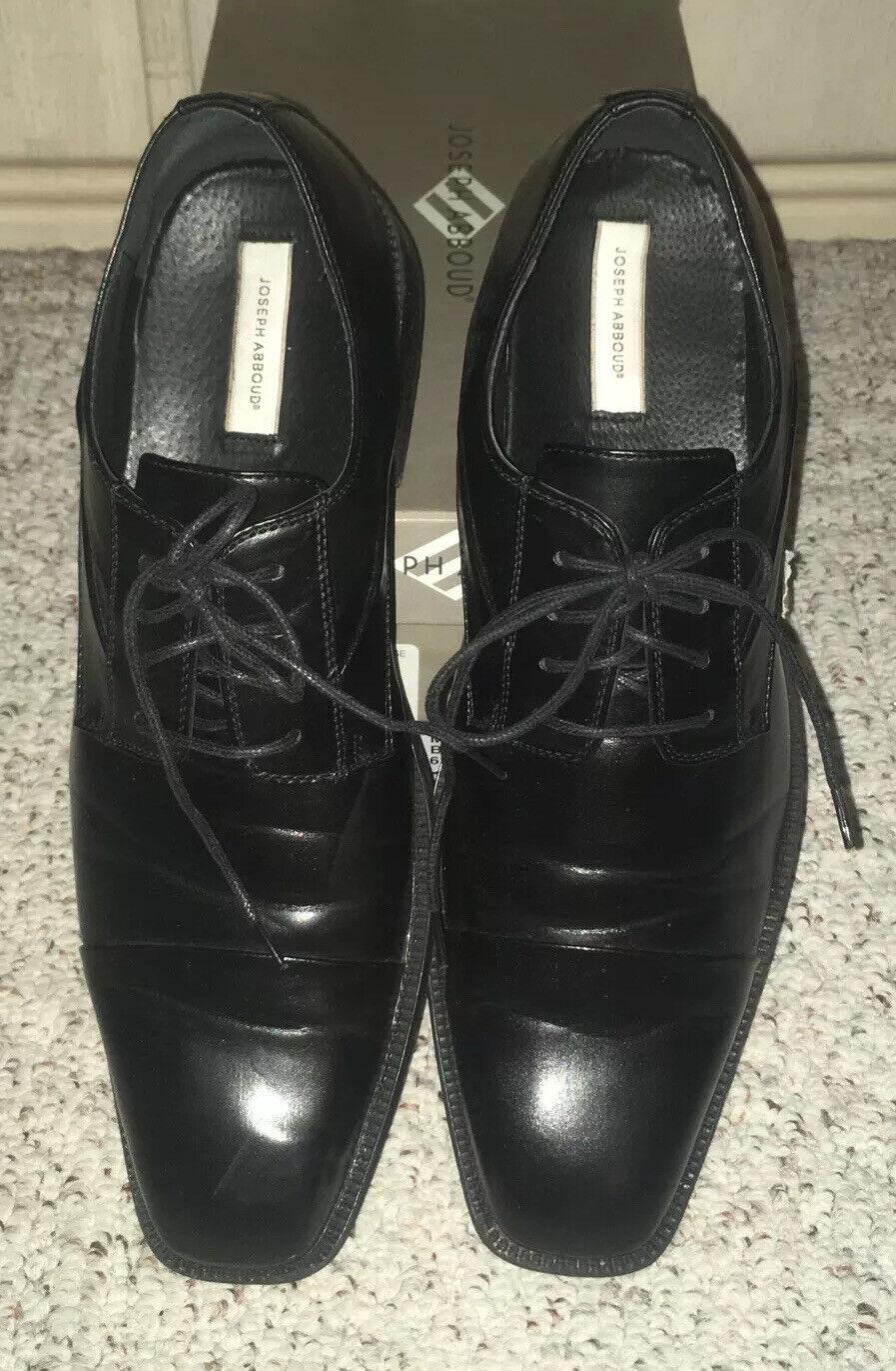 Joseph Abboud Mirage Men's Oxford Lace Up Dress Shoes Black Size 12 M with Box