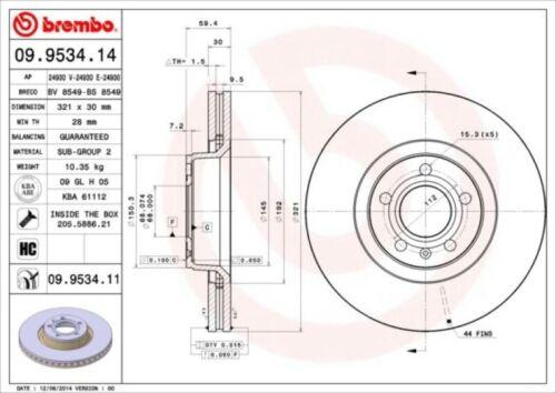 Beläge für Audi A6 Allroad Avant C6 2.4 3.0 Brembo Bremsscheiben Ø321mm vorne