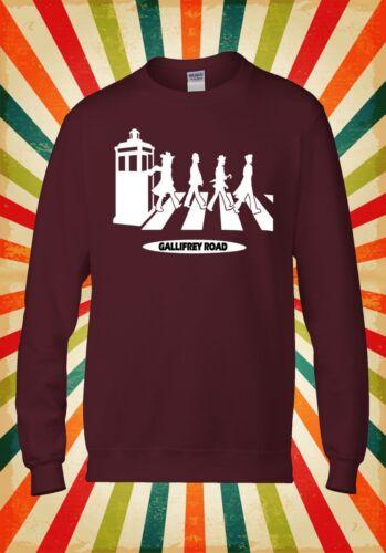 Gallifrey Road Inspired Dr Who Funny Men Women Unisex Top Hoodie Sweatshirt 1801