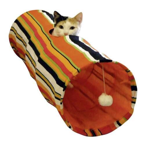 Tunnel per gatti in nylon con effetto frusciante 25 x 90 cm