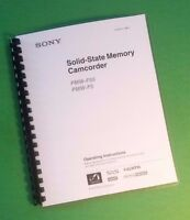 Laser Printed Sony Pmw F5 F55 Video Camera 131 Page Owners Manual Guide