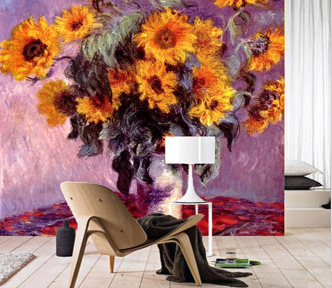3D Flower Paint 822 Wallpaper Mural Paper Wall Print Wallpaper Murals UK Lemon