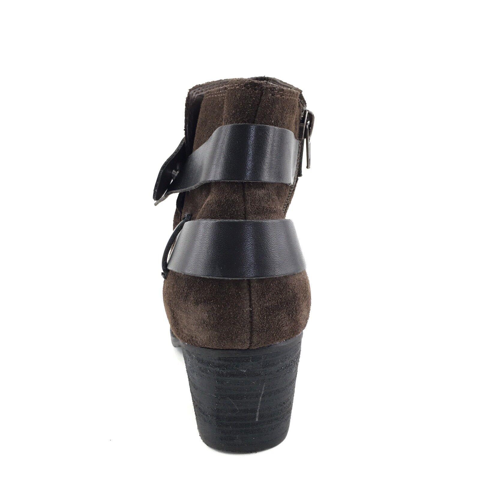 195 Dolce Stivali Vita Java Brown Suede Ankle Stivali Dolce Donna Size 9 M 622b7b