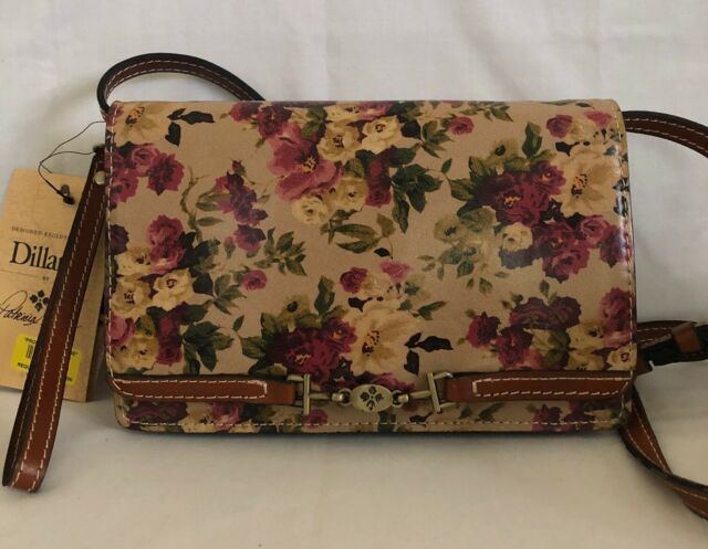 *NWT* PATRICIA NASH ANTIQUE ROSE COLLECTION LEATHER APRICALE CROSSBODY BAG $169