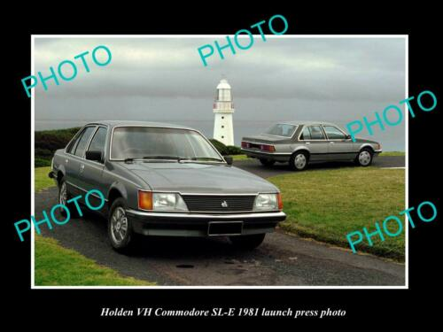 OLD 6 X 4 HISTORIC PHOTO OF GMH 1981 VH HOLDEN COMMODORE SLE LAUNCH PRESS PHOTO
