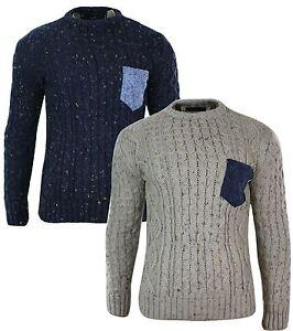2019 professionnel livraison gratuite super mignon Détails sur Pull homme tricot laine mélangée chaud et épais look hiver  décontracté