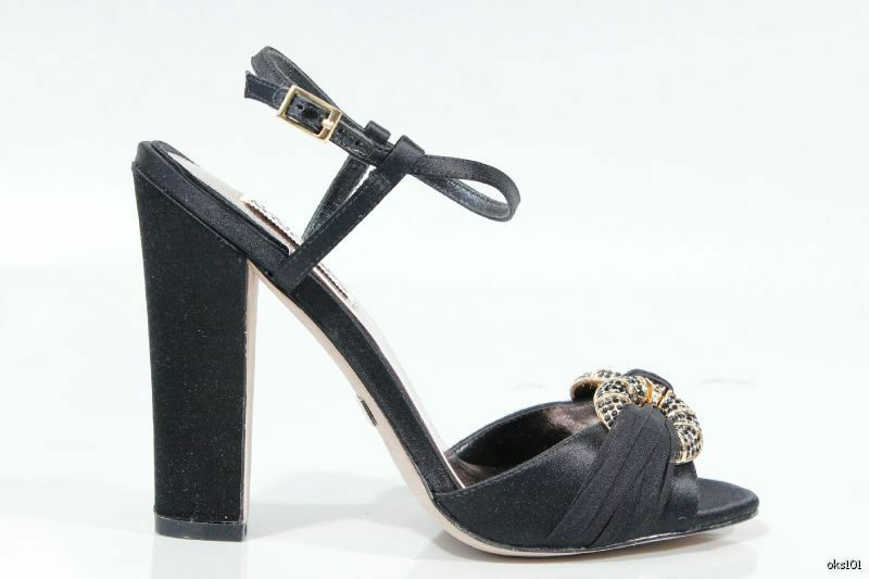 New BADGLEY MISCHKA schwarz satin open-toe jeweled very schuhe heels 6.5 - very jeweled dressy 2fa958