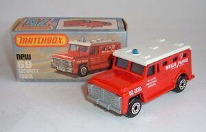 Matchbox Superfast No. 69, Camion de sécurité, - Superbe menthe