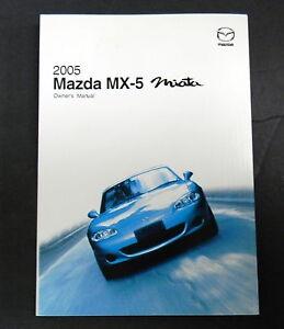 2005 mazda mx 5 miata owners manual parts service new original car rh ebay com 2000 Mazda Miata ND Miata Manual Transmission