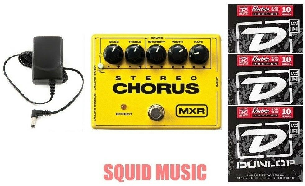MXR Dunlop M-134 Stereo Chorus Guitar Effects Pedal M134 ( 3 SETS OF STRINGS )